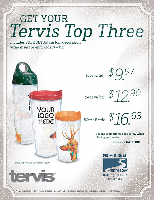 Holiday Tervis Specials!