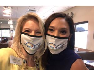 my Wegmann and Amy Sedlacek wearing masks