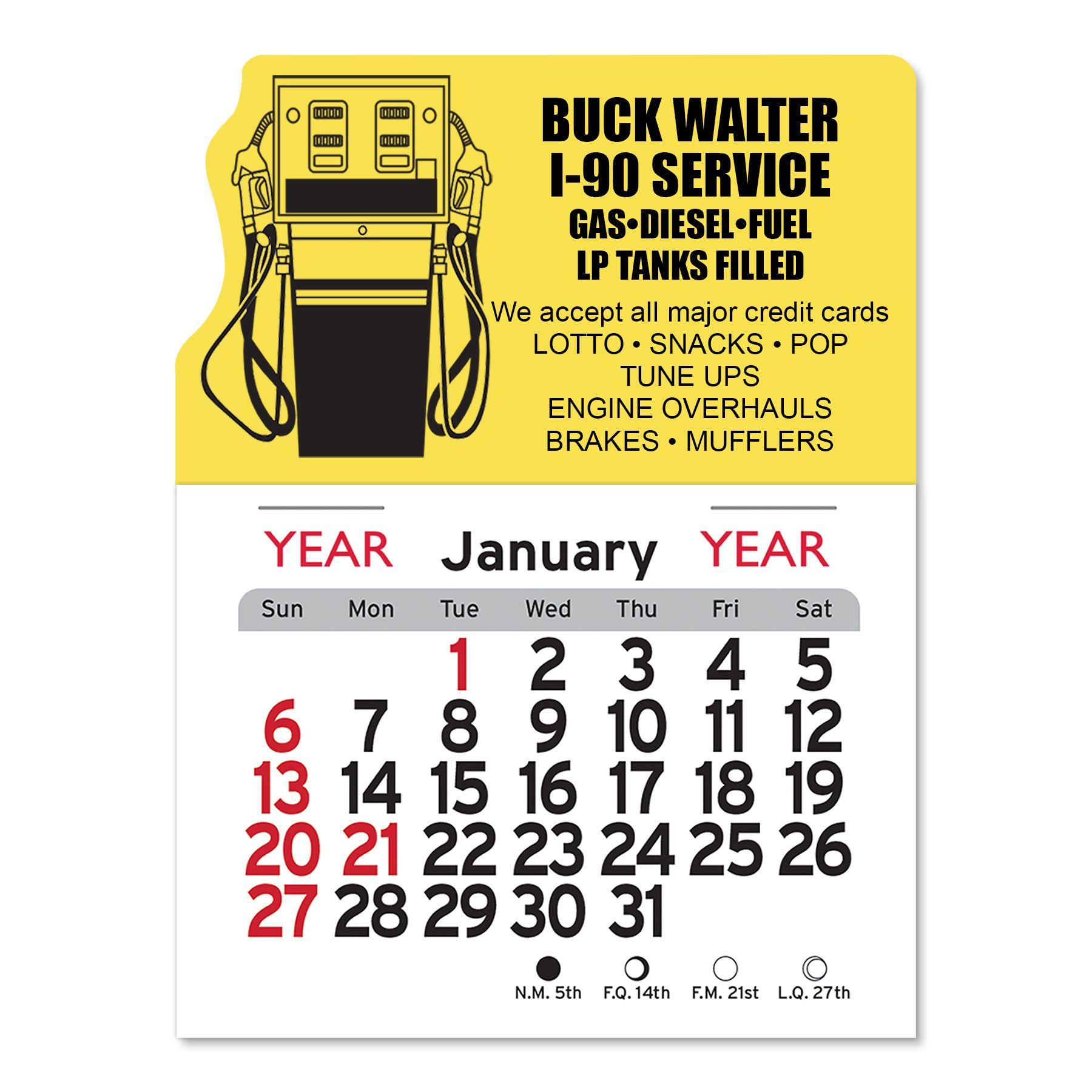 peel and stick calendar