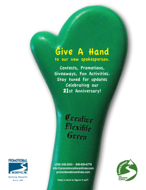 PromoGumby oversized hand-Promotional Incentives