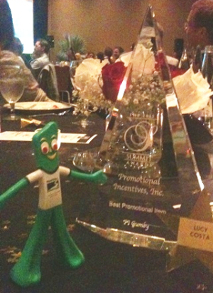 PromoGumby receiving Summit award at LEE BIA - Promotional Incentives