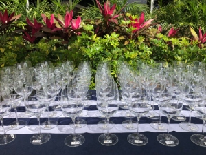 SWFL Wine fest glasses-Promotional Incentives celebrates 30 years in business-cape coral florida