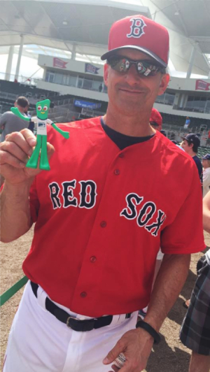 Torey Lovullo red sox baseball player with PromoGumby-Promotional Incentives
