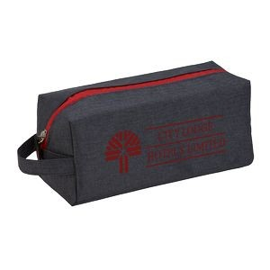 Heathered Dopp Kit Toiletry Bag