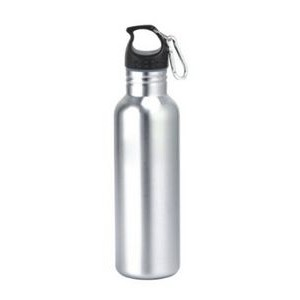 25 Oz. Wide Mouth Stainless Steel Water Bottle with Carabiner/ BPA Free