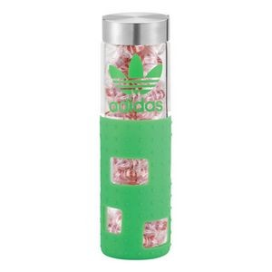 Sili Window Snax 20 oz. Glass Bottle with Silicon Sleeve and Candy fill