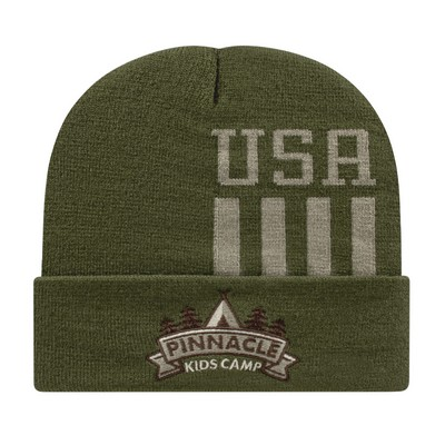 Patriotic Knit Cap with Cuff