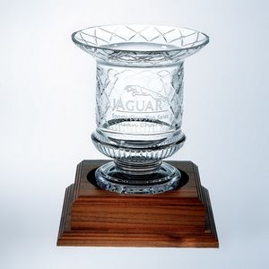 Lead Crystal Victorian Trophy