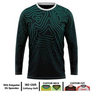 Adult Performance Long Sleeve Round Neck T-Shirt