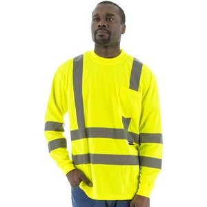 High Visibility Yellow Long Sleeve Shirt, ANSI 3, Type R