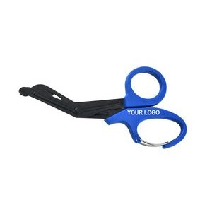 "7.5"" Bandage Shears Medical EMT Trauma Scissors with Carabiner"