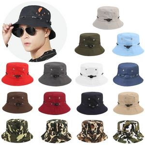 Adjustable Bucket Hat with Air Vent