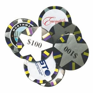Decorated Custom Chocolate Poker Chips