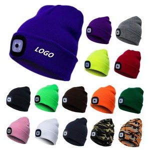 Outdoor Knit Beanie with LED Light