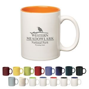 11 Oz. Colored Stoneware Mug With C-Handle