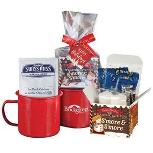 Campfire S'mores Gift Set with Holiday Card and Bow - Personalization Available