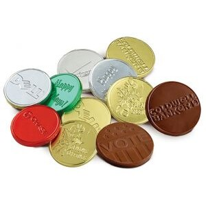 "Chocolate Coins with Embossed Logo (1.5"")"