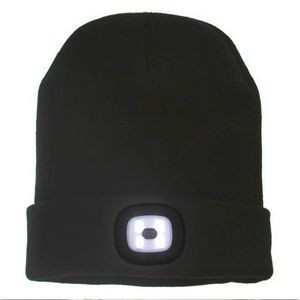 Knit Beanie with LED Light