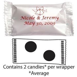 Custom Printed Wrapped Candy - Coated Chocolate Mints