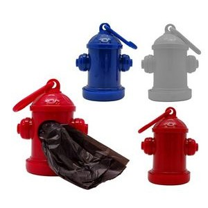 Fire Hydrant Shaped Dispenser with 15 Pet Waste Bags included