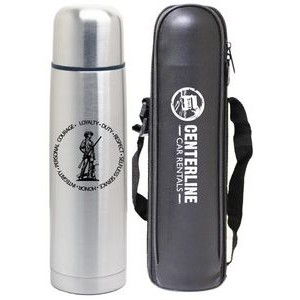 16 Oz. Slim Vacuum Thermal Bullet Bottle with Carry Bag