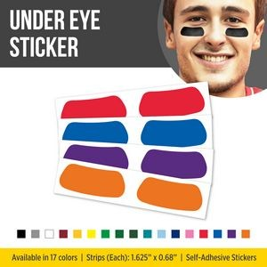 Solid Colored Under Eye Sport Strips - (athletic eye black)