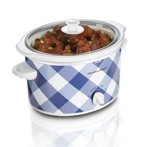 Hamilton Beach® 3 Quart Slow Cooker (Gingham Blue)