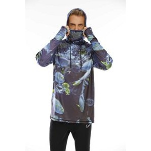 Sublimated Neck Gaiter Hoodie with UPF 50+