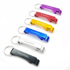 Aluminum Bottle Opener with Keychain